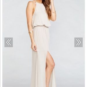 Show me your mumu heather halter dress